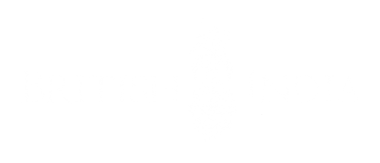 British India logo white